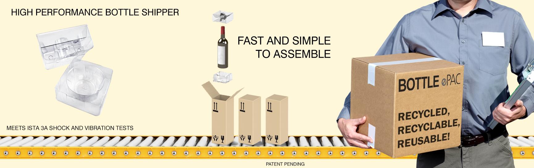 Bottle ePac - Site Web - Bannière - Page Accueil - Fond Jaune