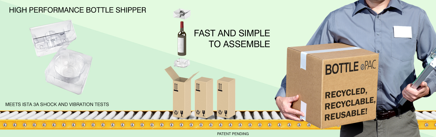 Bottle ePac - Site Web - Bannière - Page Accueil - Fond Vert