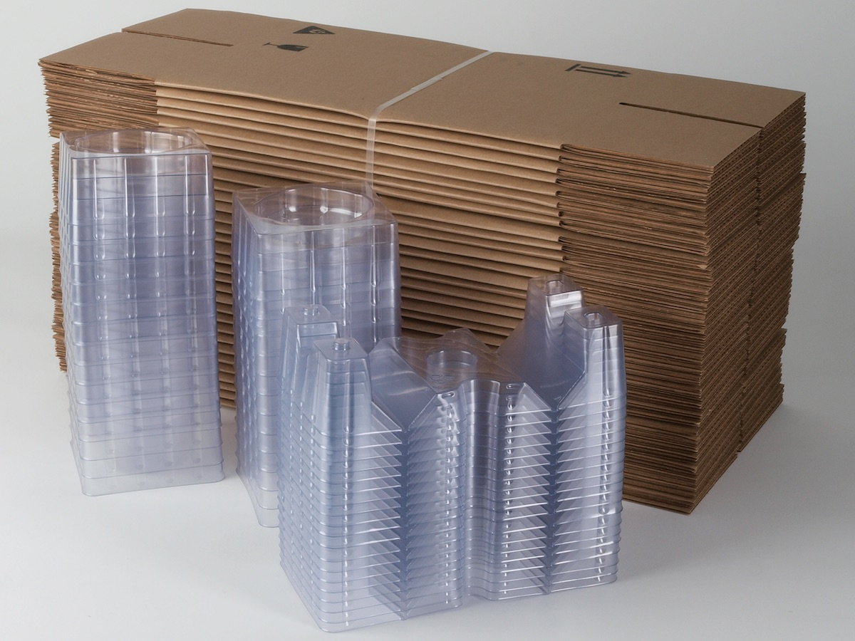 Bottle ePac - Image - Folded Boxes and Products Piles